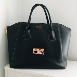 Valentino Leather Zip Tote
